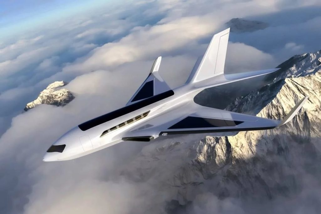 Electric plane Eather-One-concept