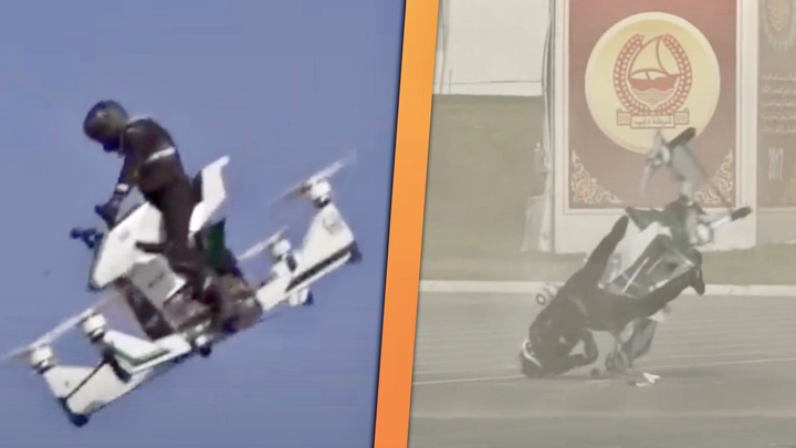 Russian Made Police Hoverbike